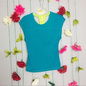 Lucy Teal Athletic T-shirt size XS.